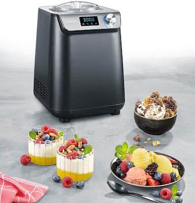 Severin EZ 7407 - Heladera y yogurtera compacta con compresor