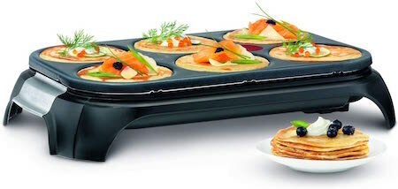 Tefal Crep Party Inox & Design PY558813 - Crepera de Acero Inoxidable